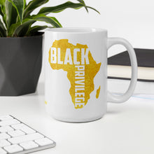 Load image into Gallery viewer, Black Privilege Gold Mug