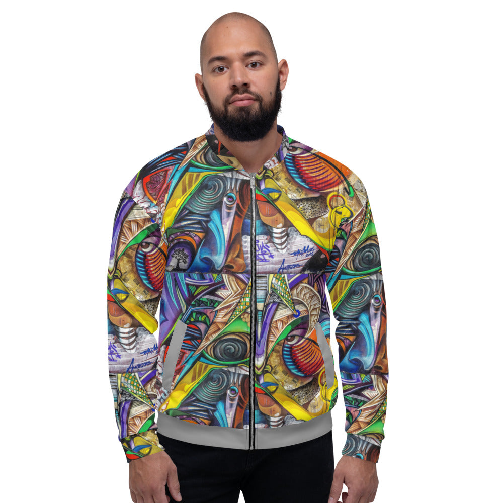 Limited Edition Graffiti Eye Bomber Jacket