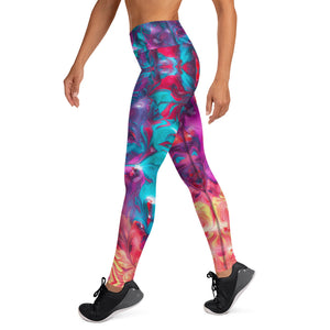 Paint Spill Yoga Leggings