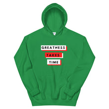 Load image into Gallery viewer, Greatness Takes Time 2.0 Hoodie (Red)