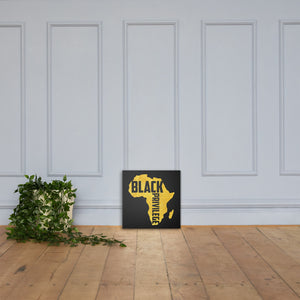 Black Privilege Gold Canvas