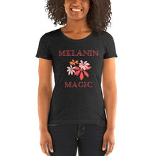 Load image into Gallery viewer, Melanin Magic Ladies' short sleeve t-shirt