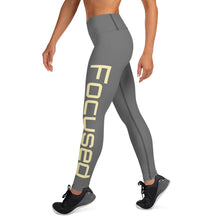 Load image into Gallery viewer, Grey Focused Yoga Leggings