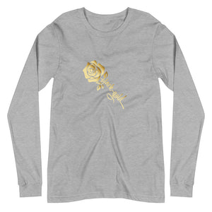 Ladies Gold Rose Long Sleeve T