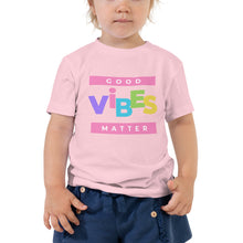 Load image into Gallery viewer, Good Vibes Toddler Short Sleeve Tee