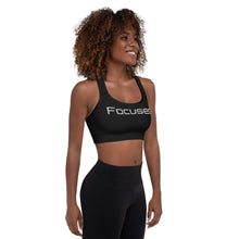 Load image into Gallery viewer, Black Focused Padded Sports Bra