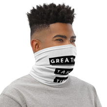 Load image into Gallery viewer, Greatness Takes Time Neck Gaiter