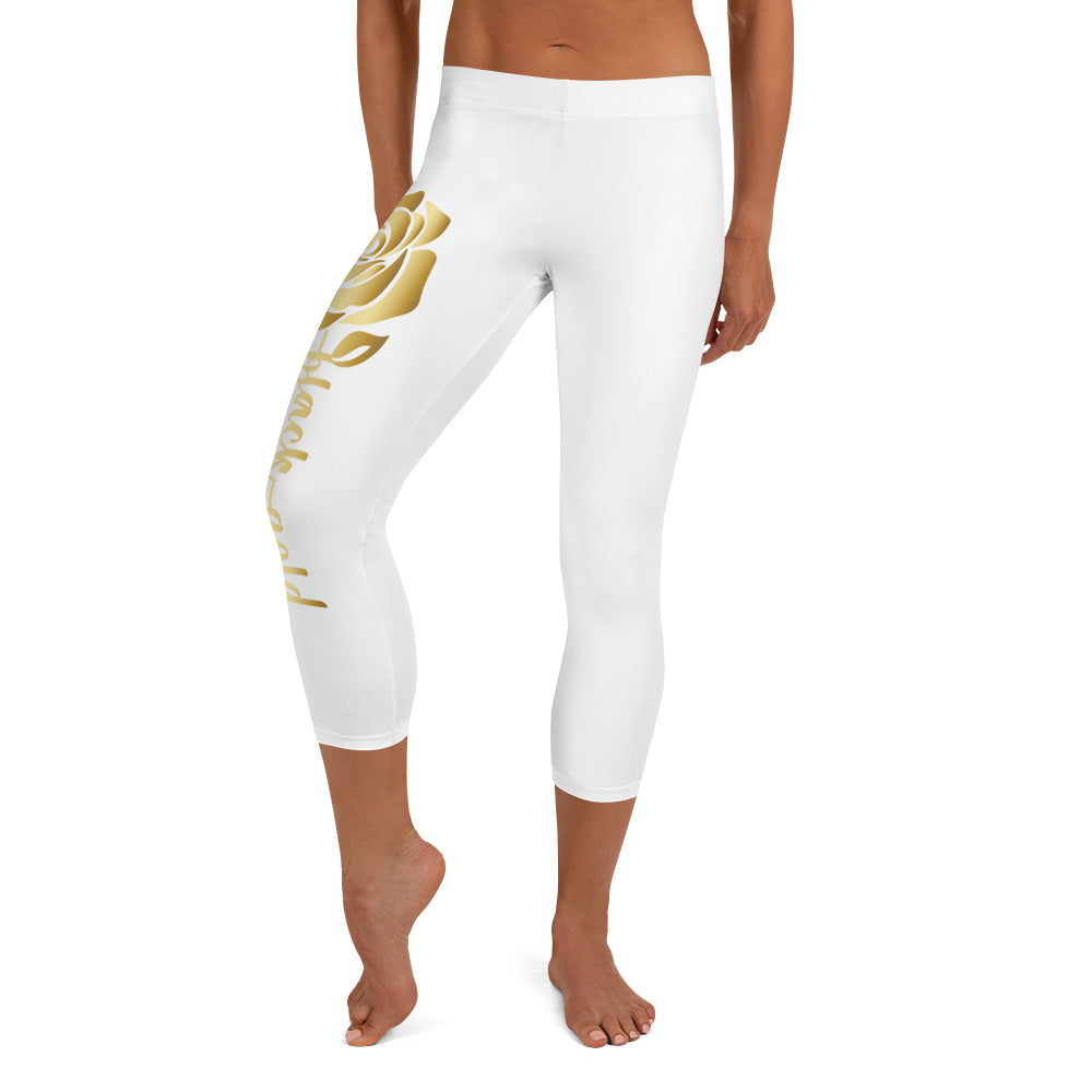 Gold Rose Capri Leggings
