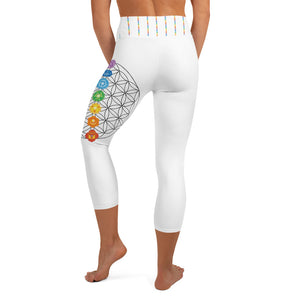 Flower of Life Chakra Yoga Capri Leggings