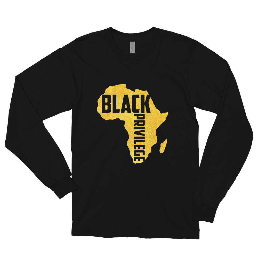 Black Privilege Gold Long Sleeve T-Shirt