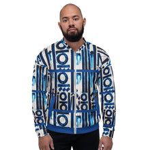 Load image into Gallery viewer, Limited Edition Bleu Flame Bomber Jacket