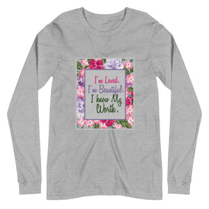 Women's Affirmations Long Sleeve Tee