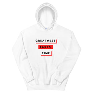 Greatness Takes Time 2.0 Hoodie (Red)