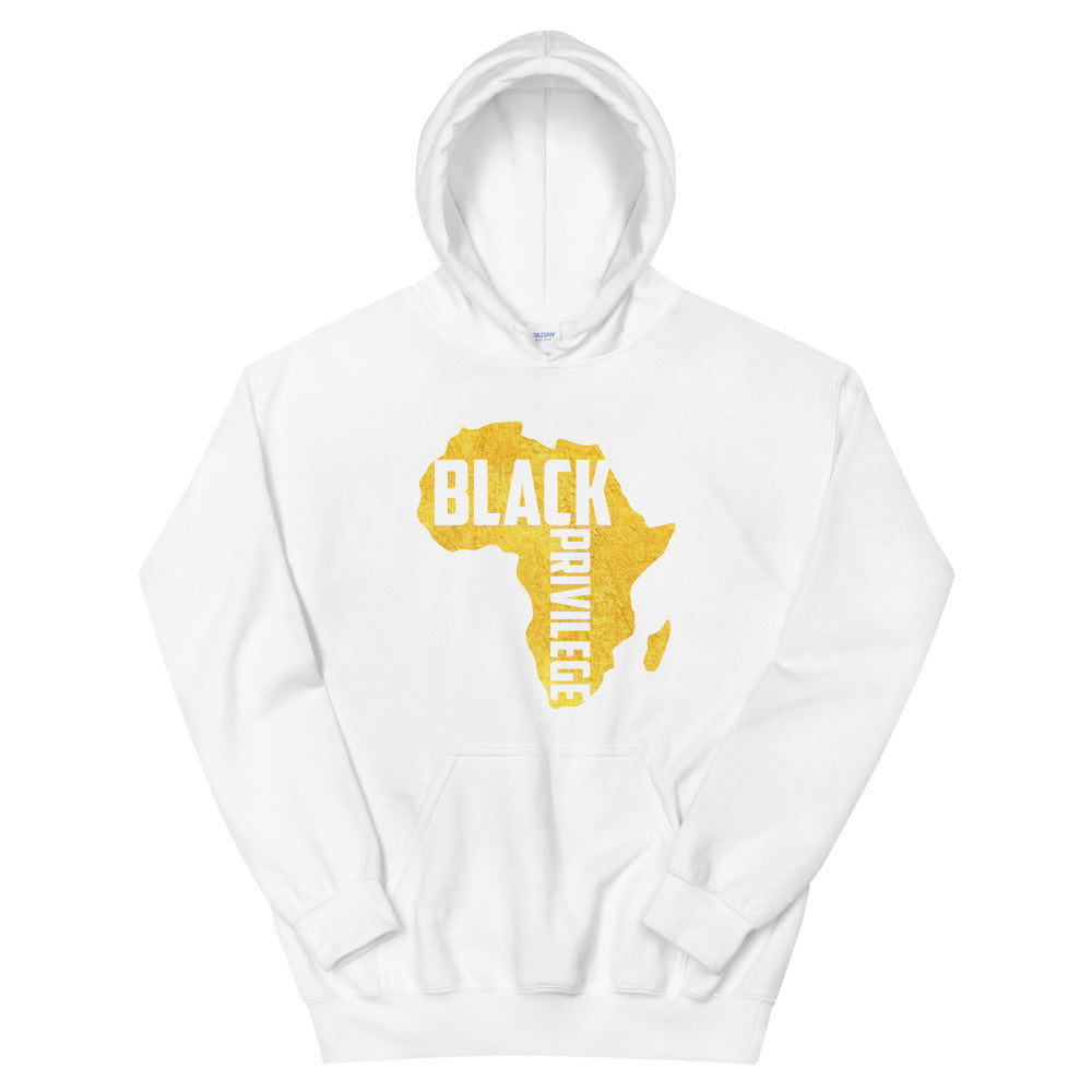 Black Privilege Gold Signature Hoodie