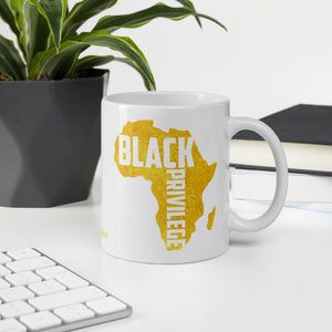 Black Privilege Gold Mug
