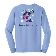 Load image into Gallery viewer, Red Jug Pub Oneonta Drink Like a Fish Winter Long Sleeve
