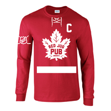 Load image into Gallery viewer, Red Jug Pub Oneonta Leafs Long Sleeve T-Shirt