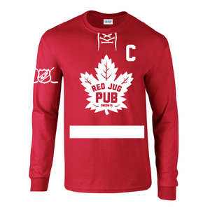 Red Jug Pub Oneonta Leafs Long Sleeve T-Shirt