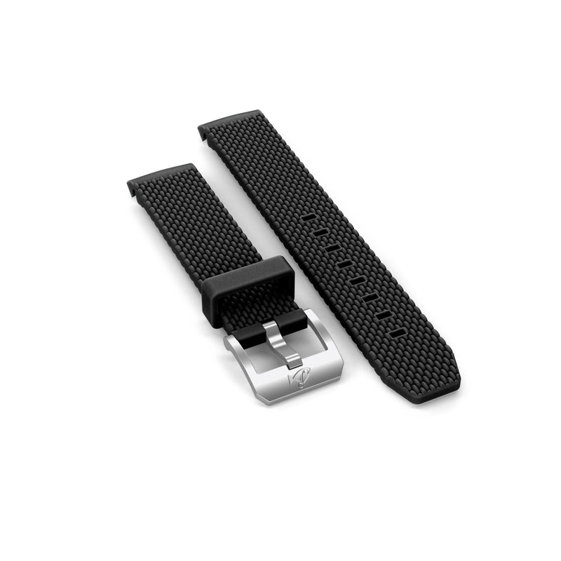 Rubber strap with buckle, Black