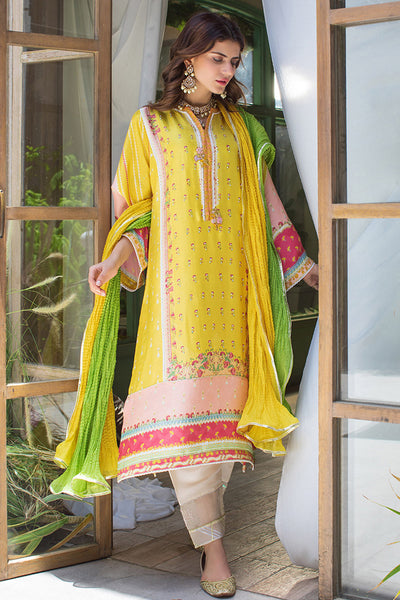 ANEETA RAW SILK FESTIVE SHIRT WITH DUPATTA - Farah Talib Aziz