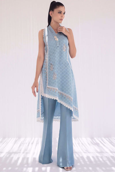 BLOCK PRINTED COTTON NET KURTA - Sania Maskatiya