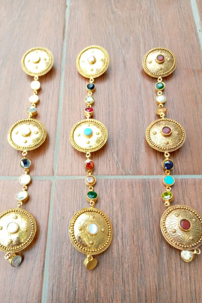 Bandhej copper buttons (2) - Braahtii