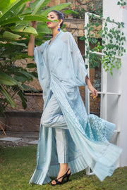 Blue Sequin Kaftan - Chic Ophicial