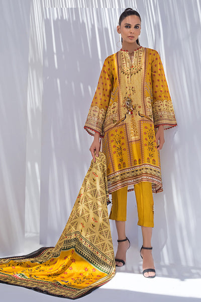 COTTON NET PRINTED LONG KURTA - Sania Maskatiya