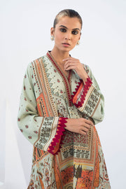 CREPE DIGITALLY PRINTED KURTA Green - Sania Maskatiya