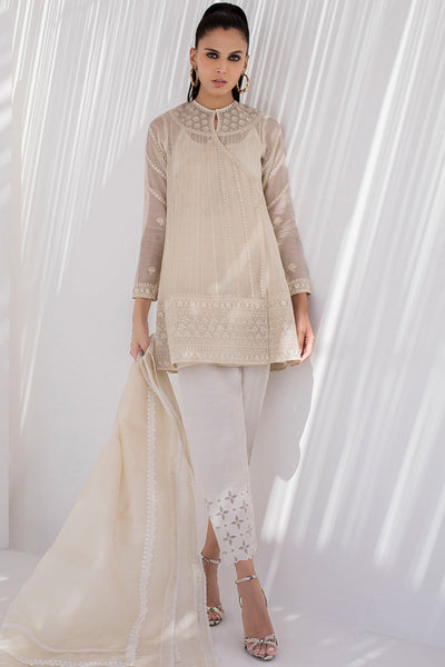 EMBROIDERED COTTON NET ANGARKHA - Sania Maskatiya