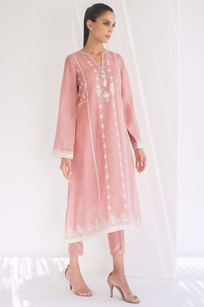 EMBROIDERED LONG KURTA - Sania Maskatiya
