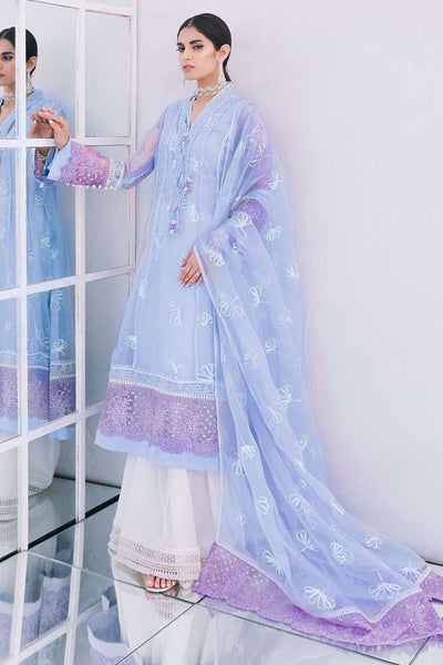 Venice blue shirt and dupatta - Farah Talib Aziz