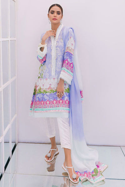 Lilacism raw silk tunic and dupatta - Farah Talib Aziz