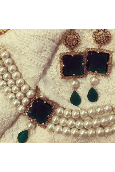 Jade and big pearls set. - Meraki