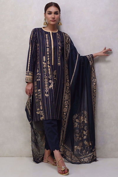 KD-0120-BP-S-21-NAVY BLUE - Nida Azwer