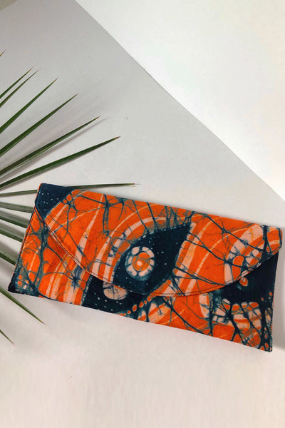 Orange & Blue Evelope Clutch - Braahtii