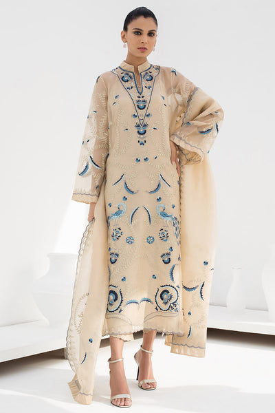 EMBROIDERED ORGANZA LONG KURTA - Sania Maskatiya