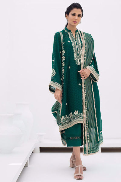 EMBROIDERED COTTON NET KURTA - Sania Maskatiya