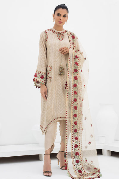 KURTA WITH CORNER DROPPING HEMLINE - Sania Maskatiya
