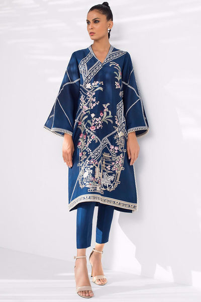 EMBROIDERED RAW SILK KURTA - Sania Maskatiya
