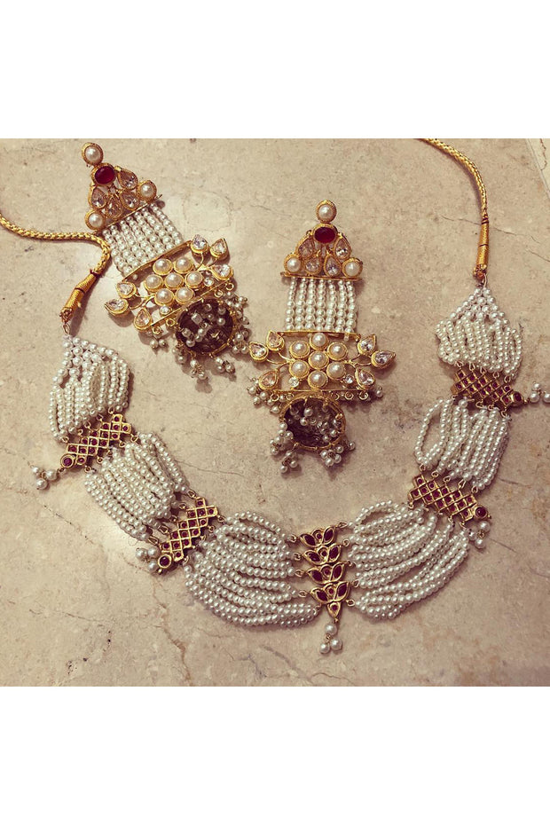 Jhumki earrings with jhumar - Meraki