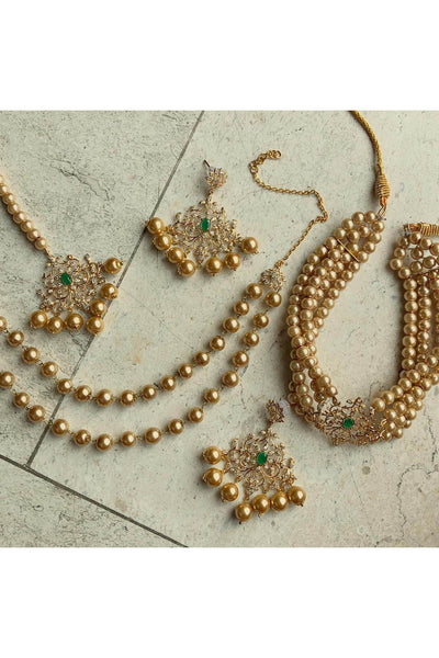 Persian set - golden pearls.