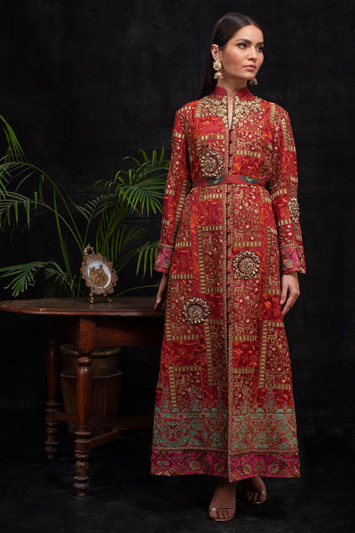RED BOX LUXURY COAT - Shamaeel Ansari