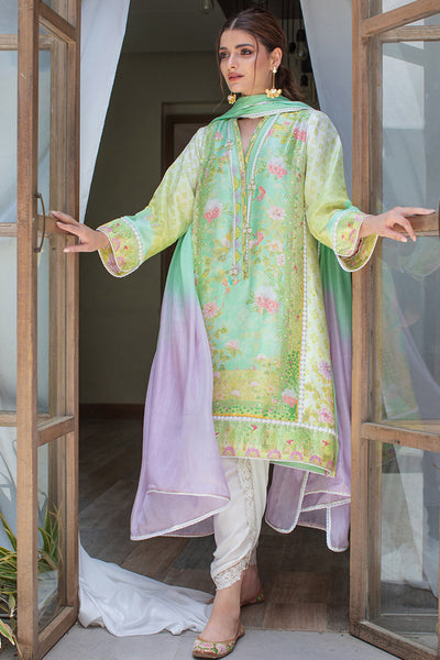 RAINFOREST RAW SILK SHIRT AND DUPATTA - Farah Talib Aziz