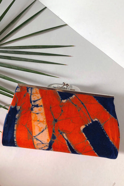 Red & Blue Soft Clutch - Braahtii
