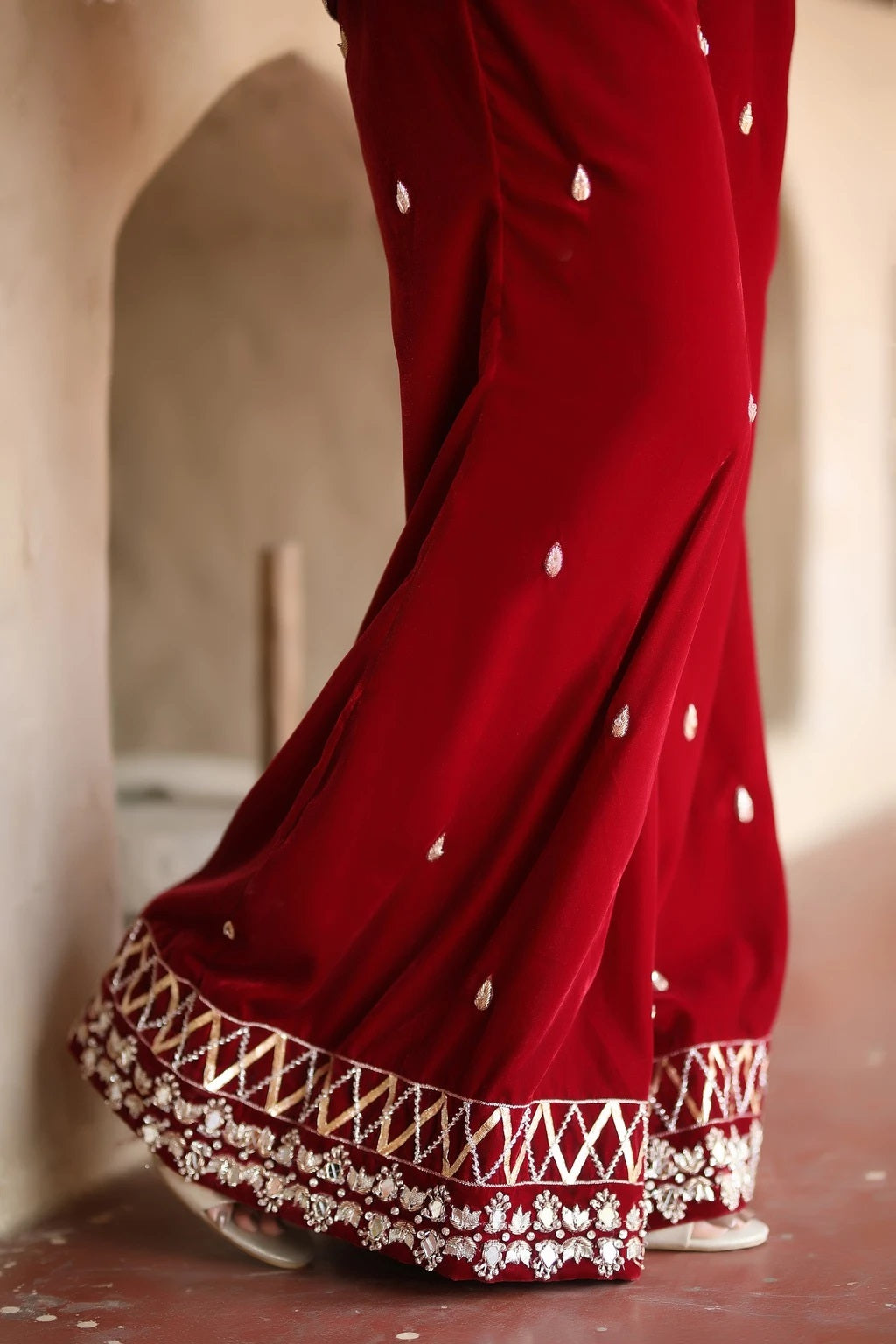 Scarlet Passion Trousers - Henna Mehndi