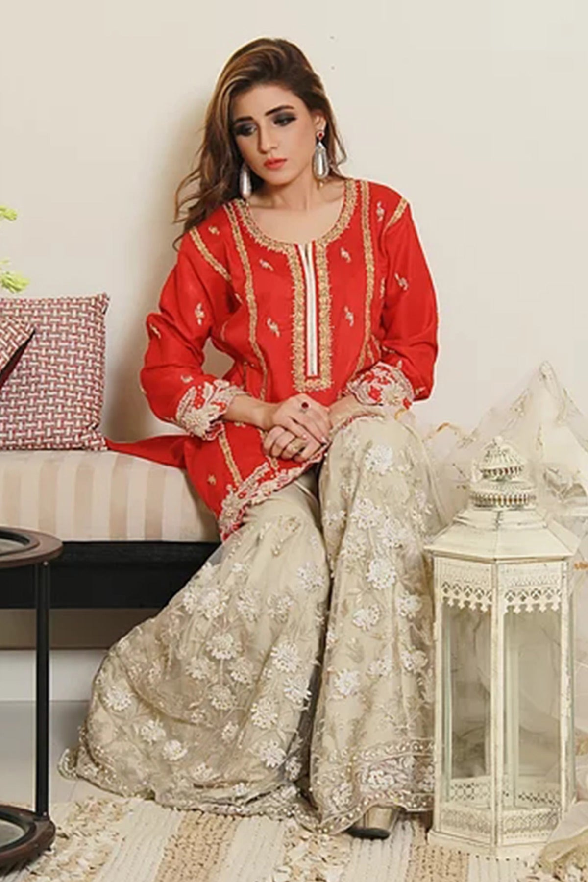 Traditional Red - Sidra Mumtaz