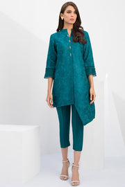 ASYMMETRIC EMBROIDERED KURTA  - Sania Maskatiya