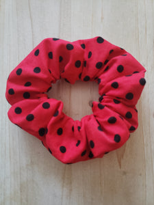 Lady Bug Scrunchie