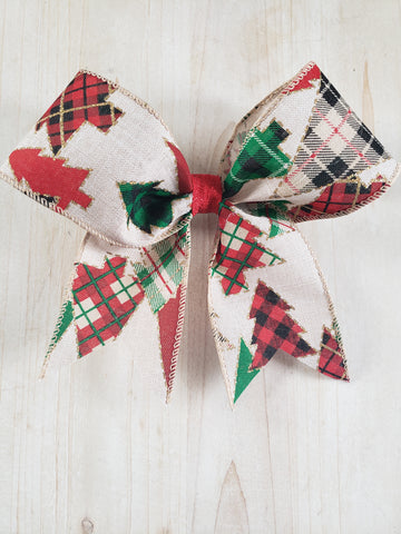 Christmas Hair Bow- Neutral
